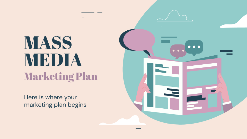 Mass Media Marketing Plan presentation template