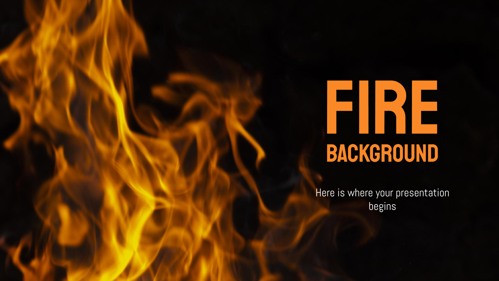 Fire Background presentation template