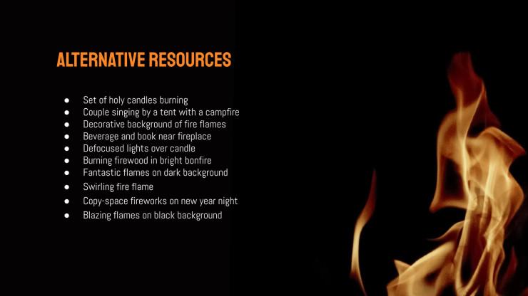 Arrière-plan de feu : Modèles de présentation