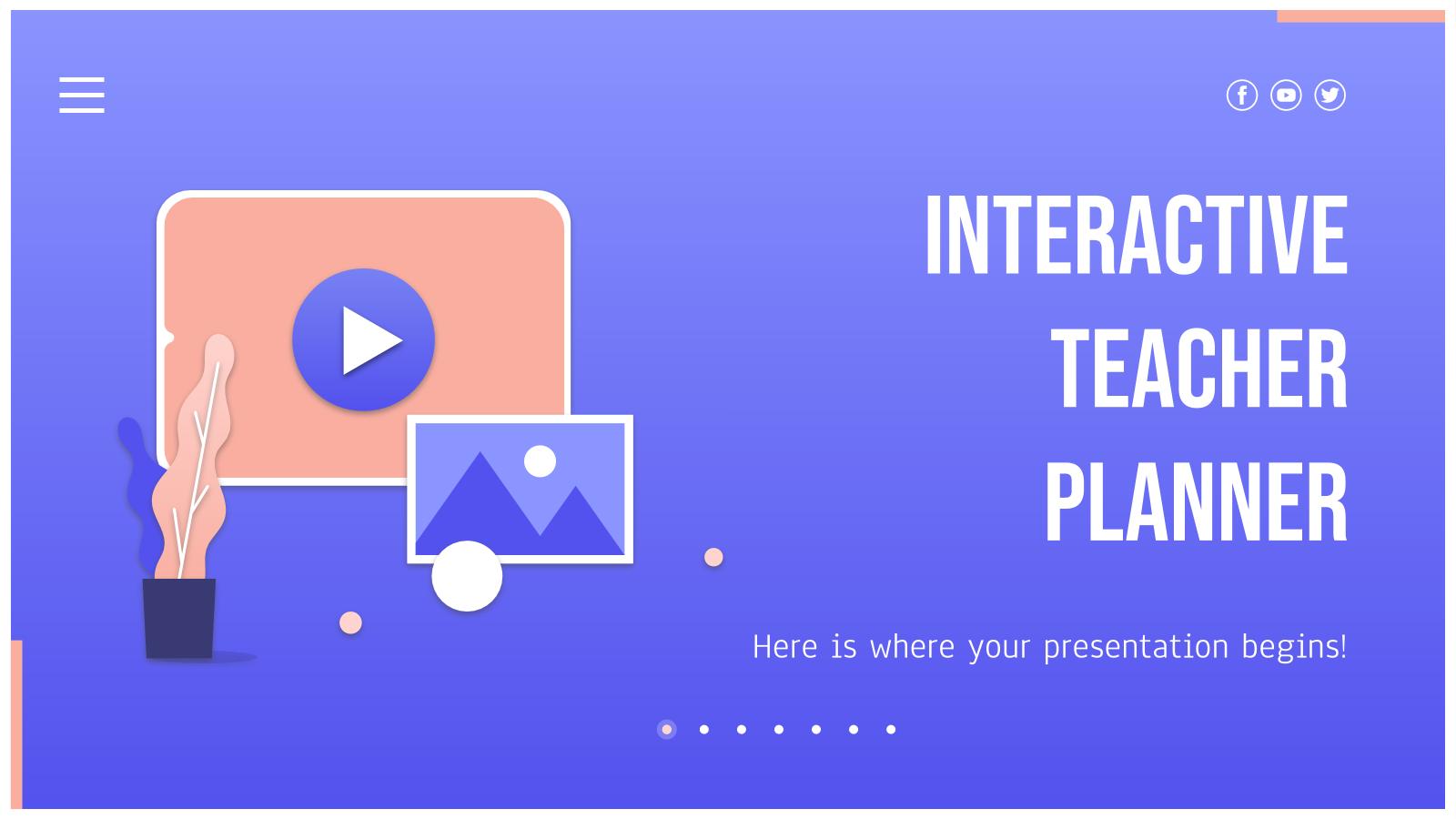 Plantilla de presentación Planificador de clases interactivo