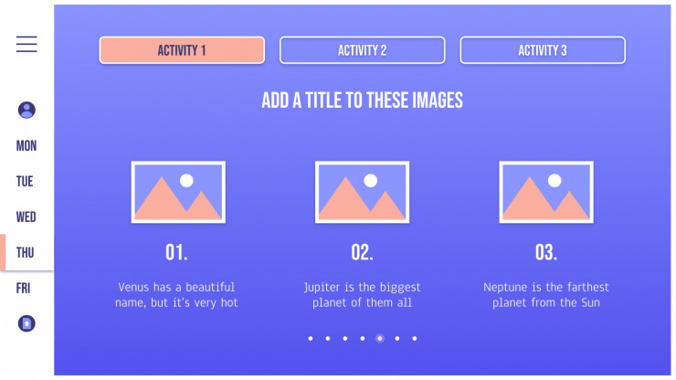 Planning interactif pour les enseignants : Modèles de présentation