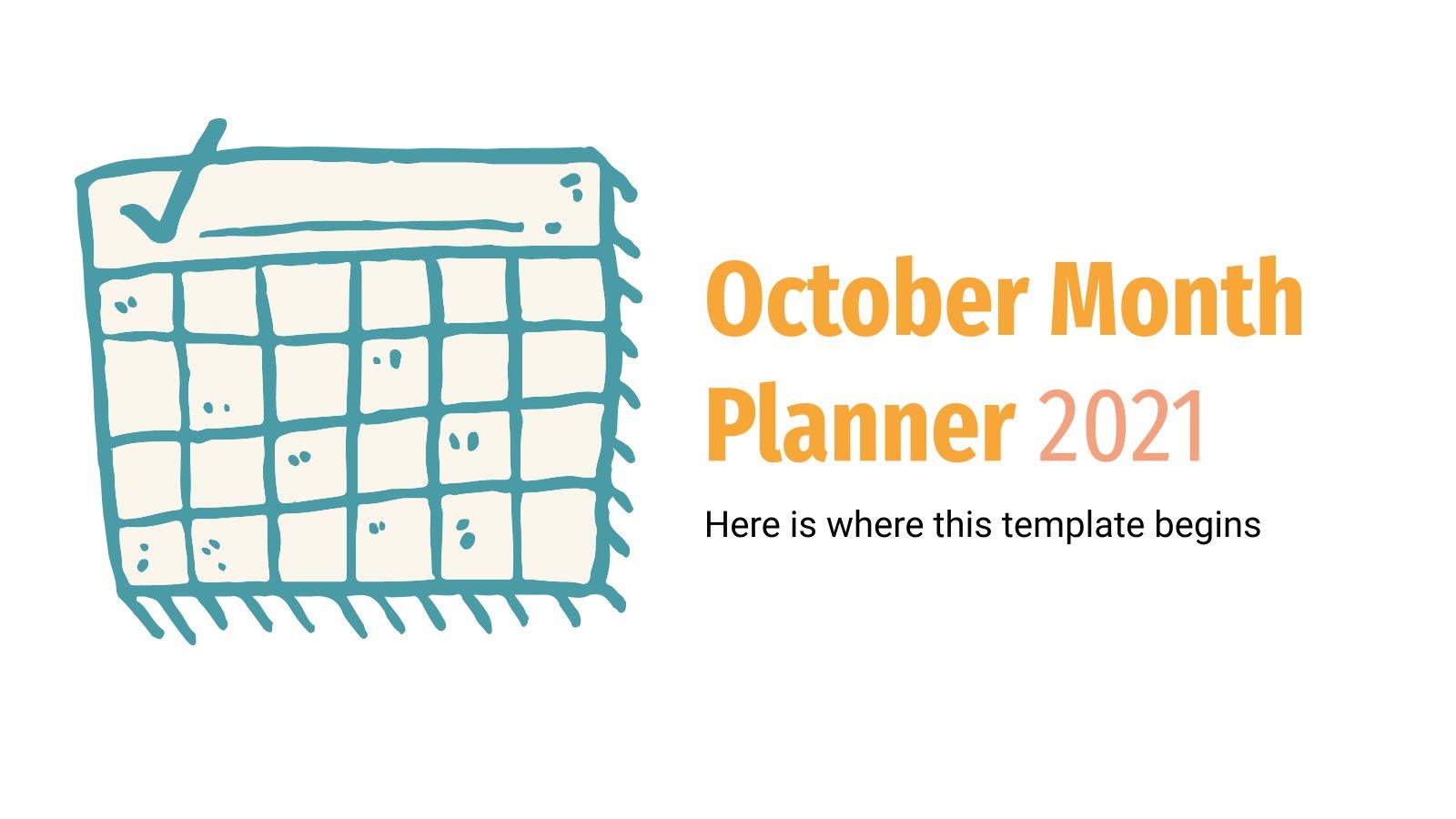 October Month Planner 2021 Infographics presentation template