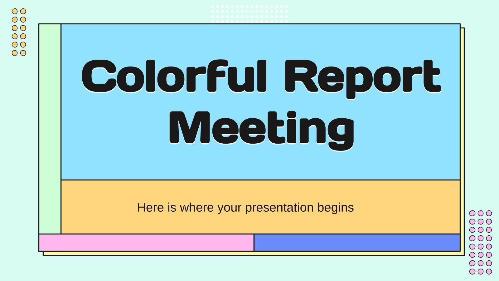 Rapport coloré pour une réunion : Modèles de présentation