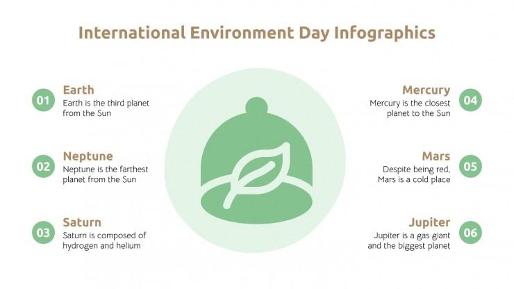 Infographies Journée de l'environnement : Modèles de présentation