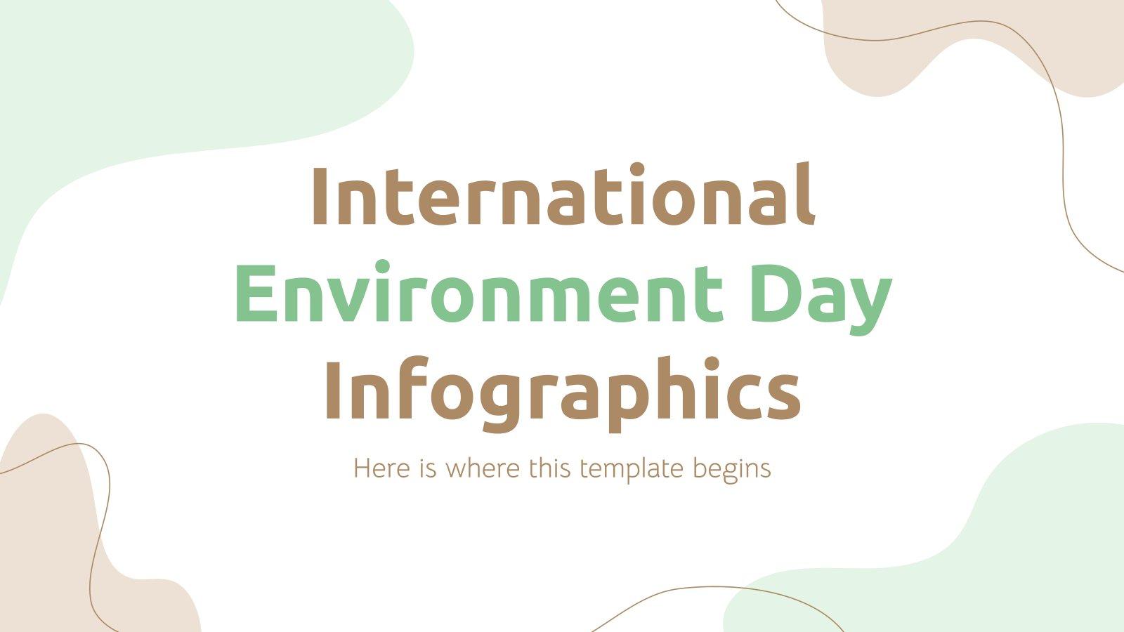 Plantilla de presentación Infografías del Día del Medio Ambiente