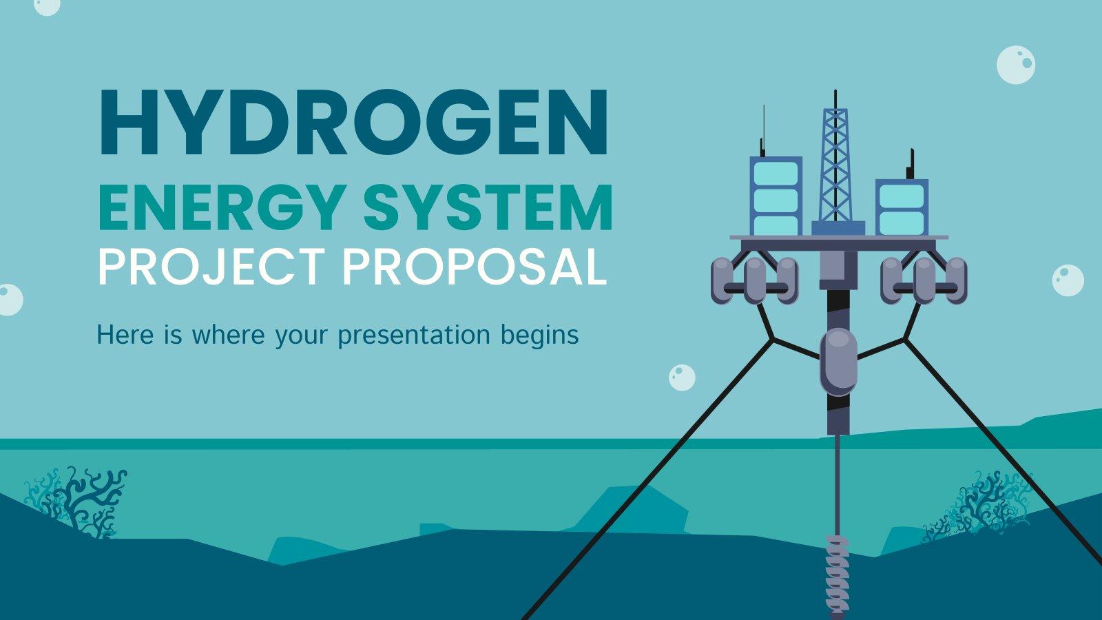 Proposition de projet de système énergétique à hydrogène : Modèles de présentation