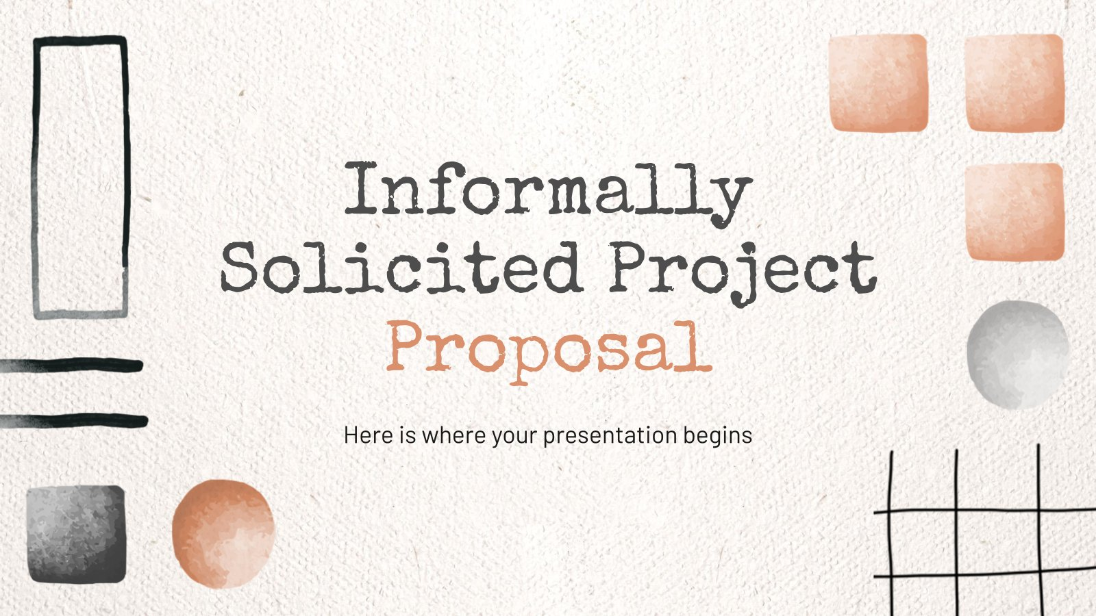 Plantilla de presentación Propuesta informal de proyecto