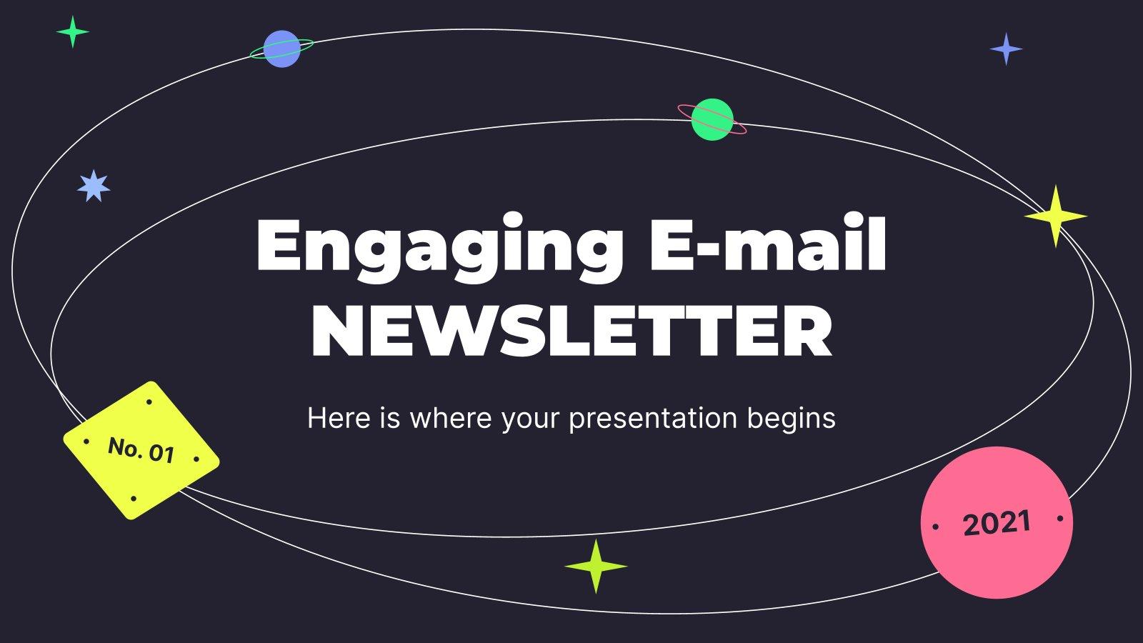 Modelo de apresentação Newsletter por e-mail envolvente
