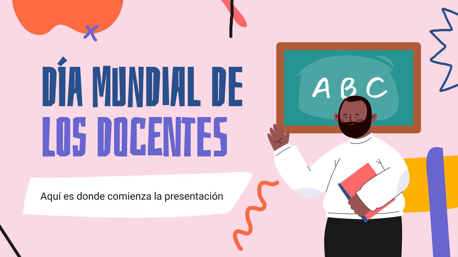 Journée internationale des enseignants : Modèles de présentation