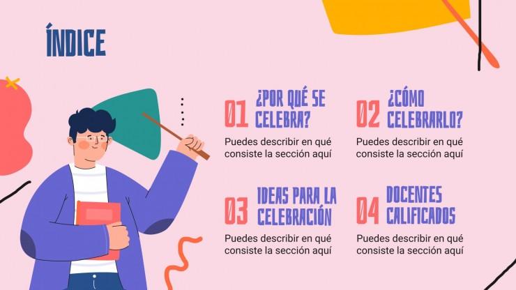 Internationaler Tag des Lehrers Präsentationsvorlage