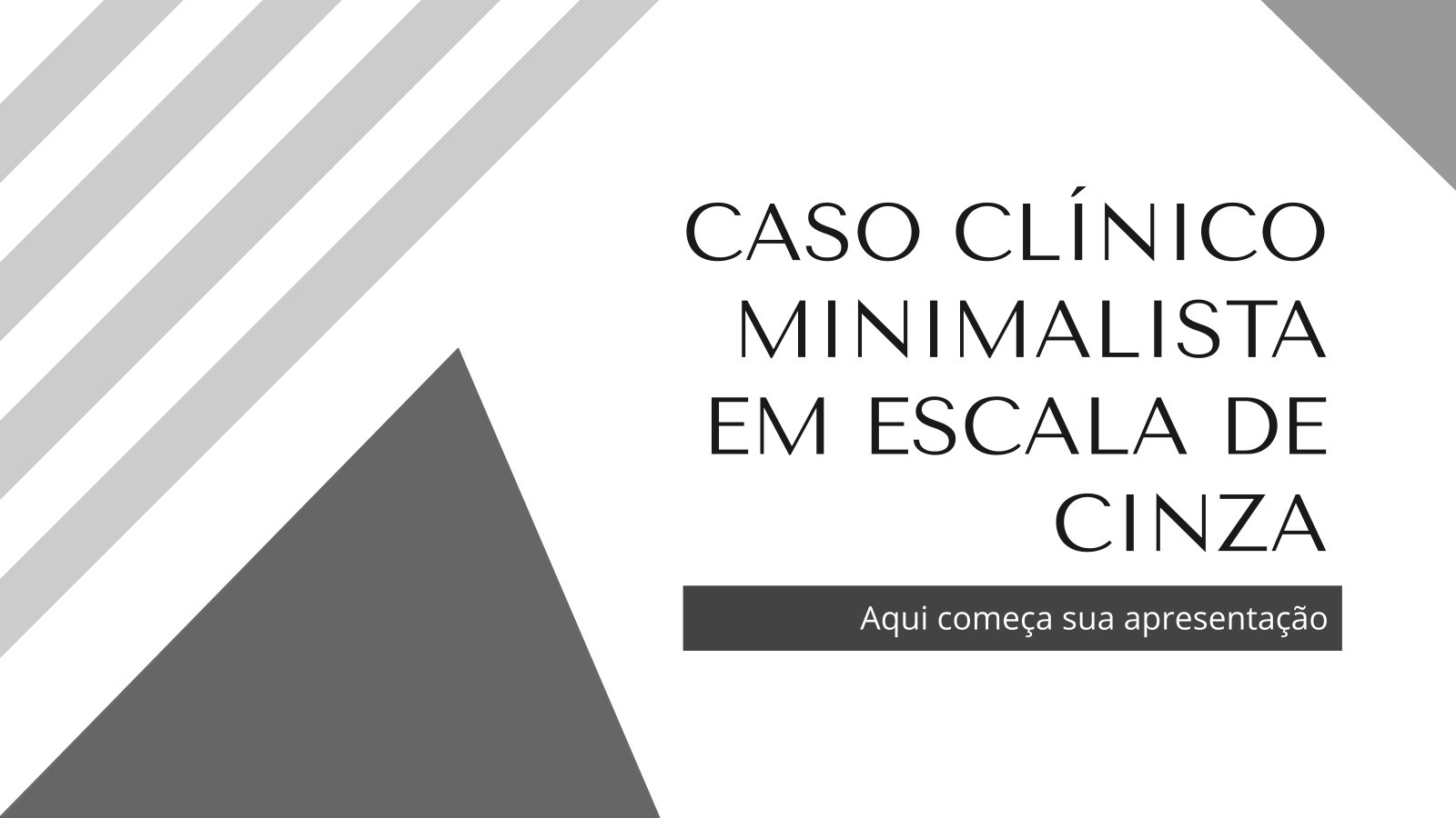 Plantilla de presentación Caso clínico minimalista en escala de grises