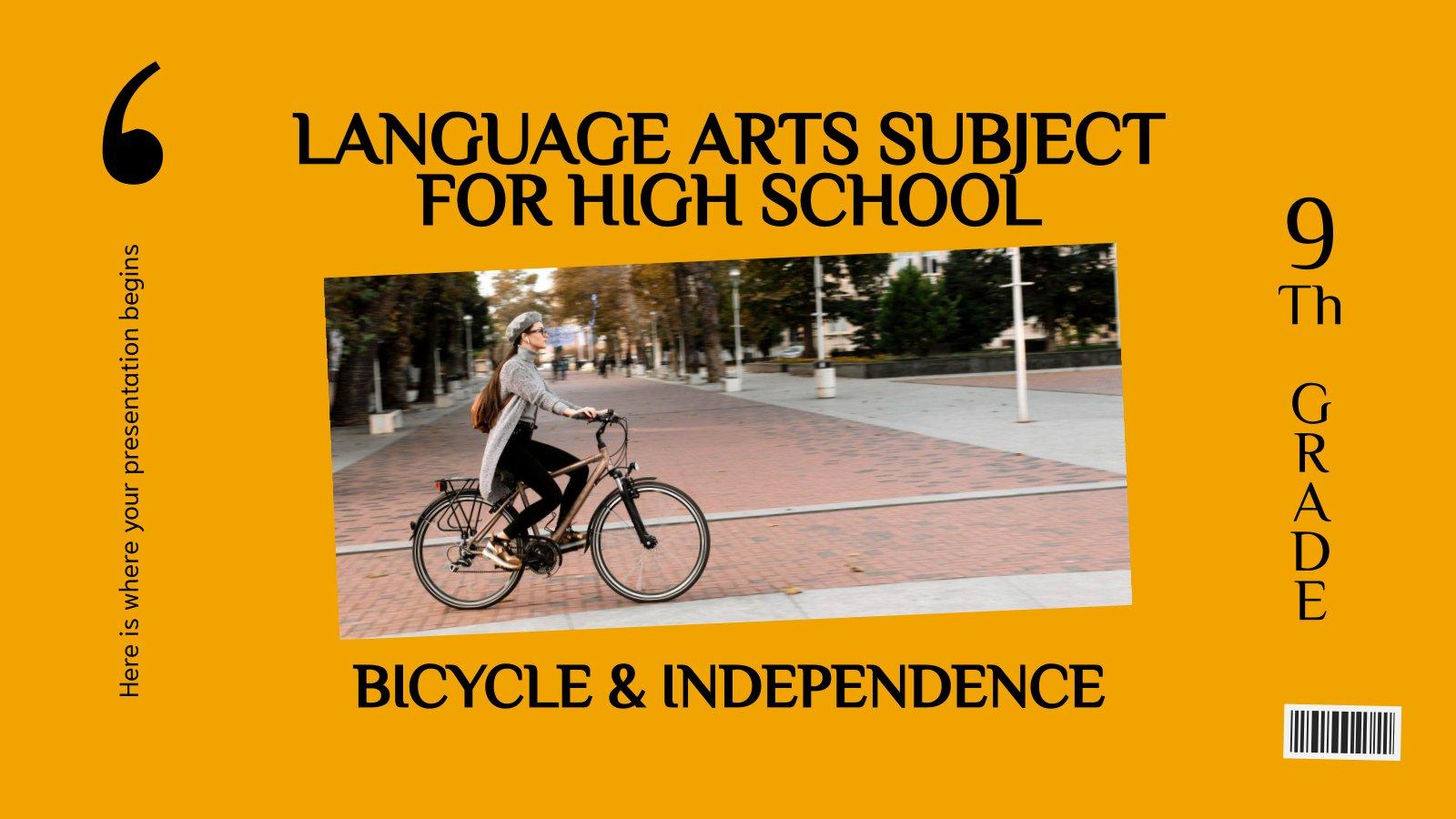 Sprachkurse für die Oberstufe: Fahrräder und Unabhängigkeit Präsentationsvorlage