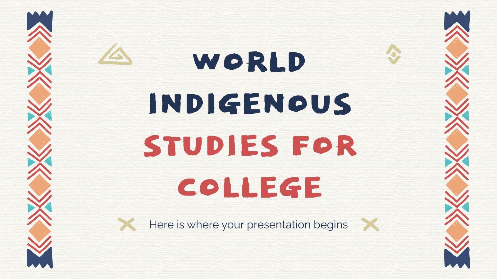 Plantilla de presentación Estudios sobre pueblos indígenas