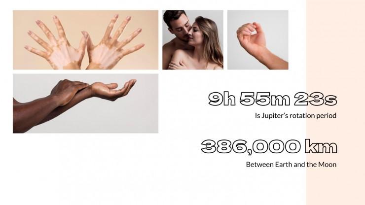 Thema für Marketing mit Beauty-Collagen Präsentationsvorlage