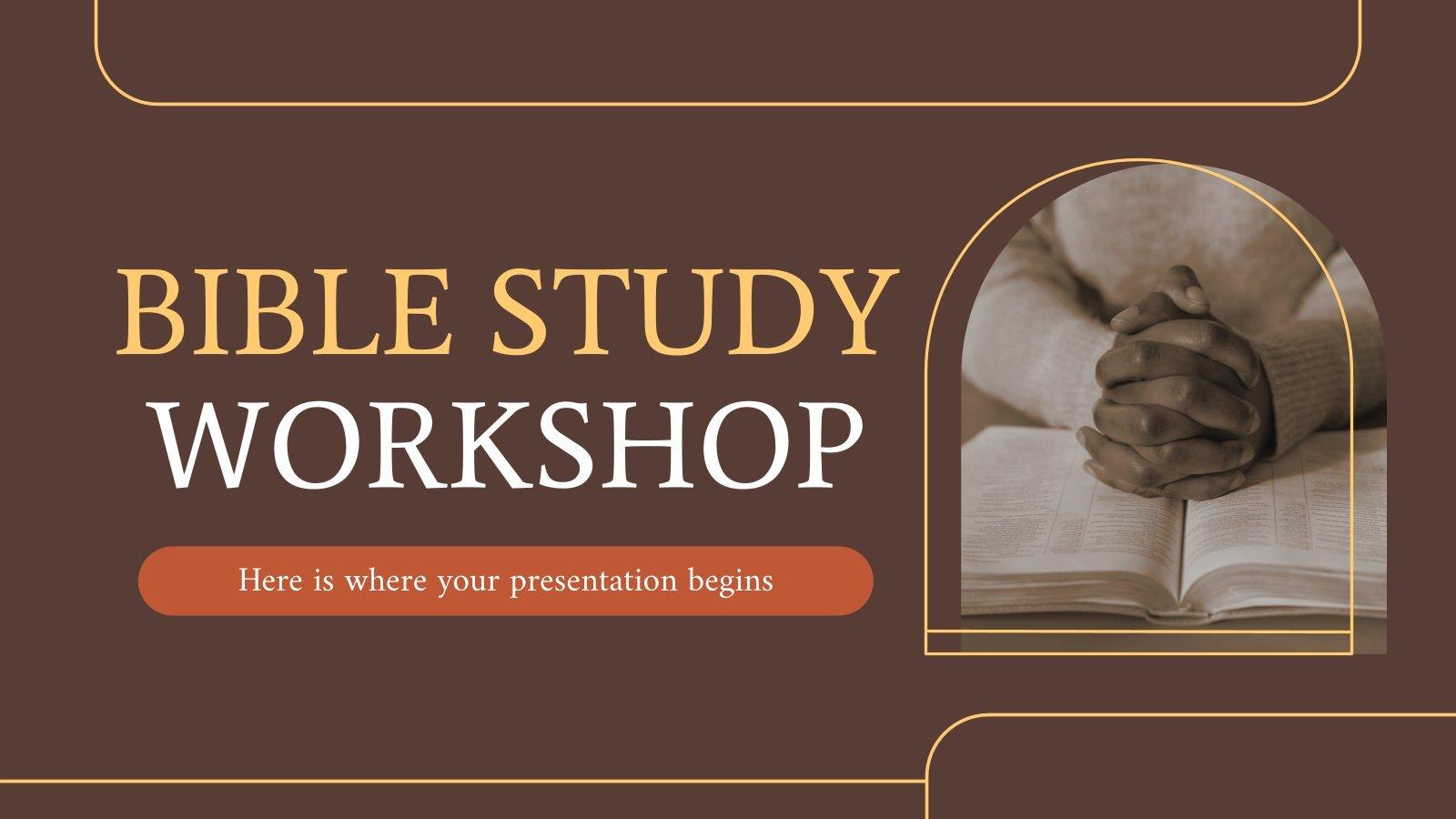 Modelo de apresentação Oficina sobre o estudo da Bíblia