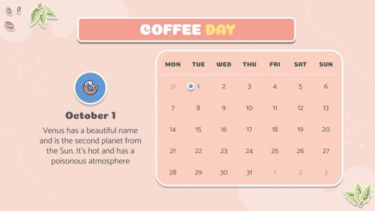 Internationaler Tag des Kaffees Präsentationsvorlage