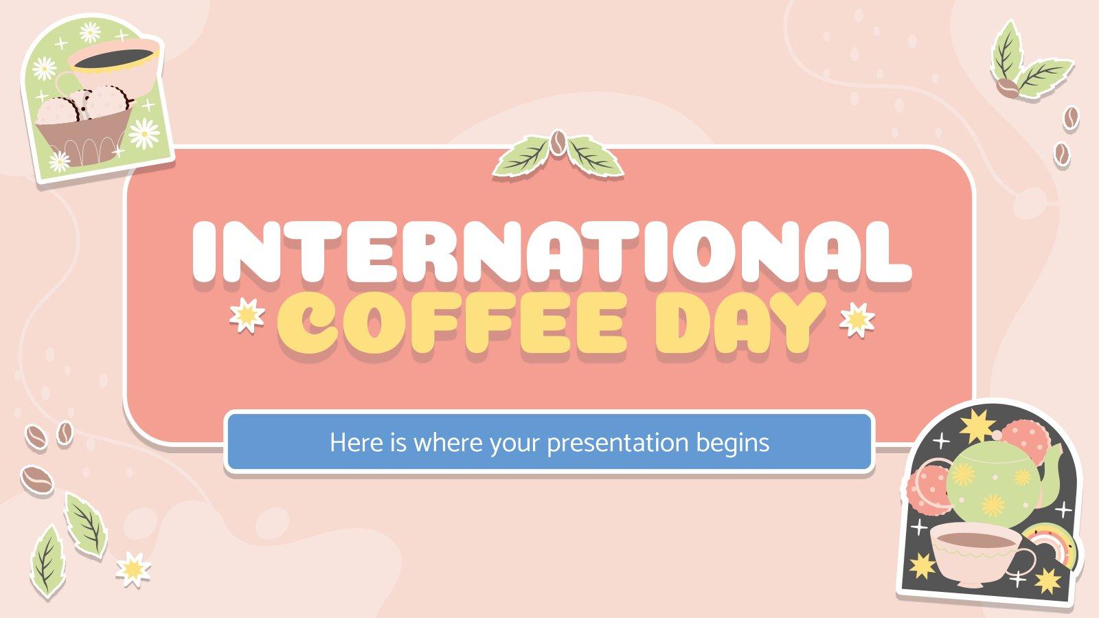 Plantilla de presentación Día Internacional del Café