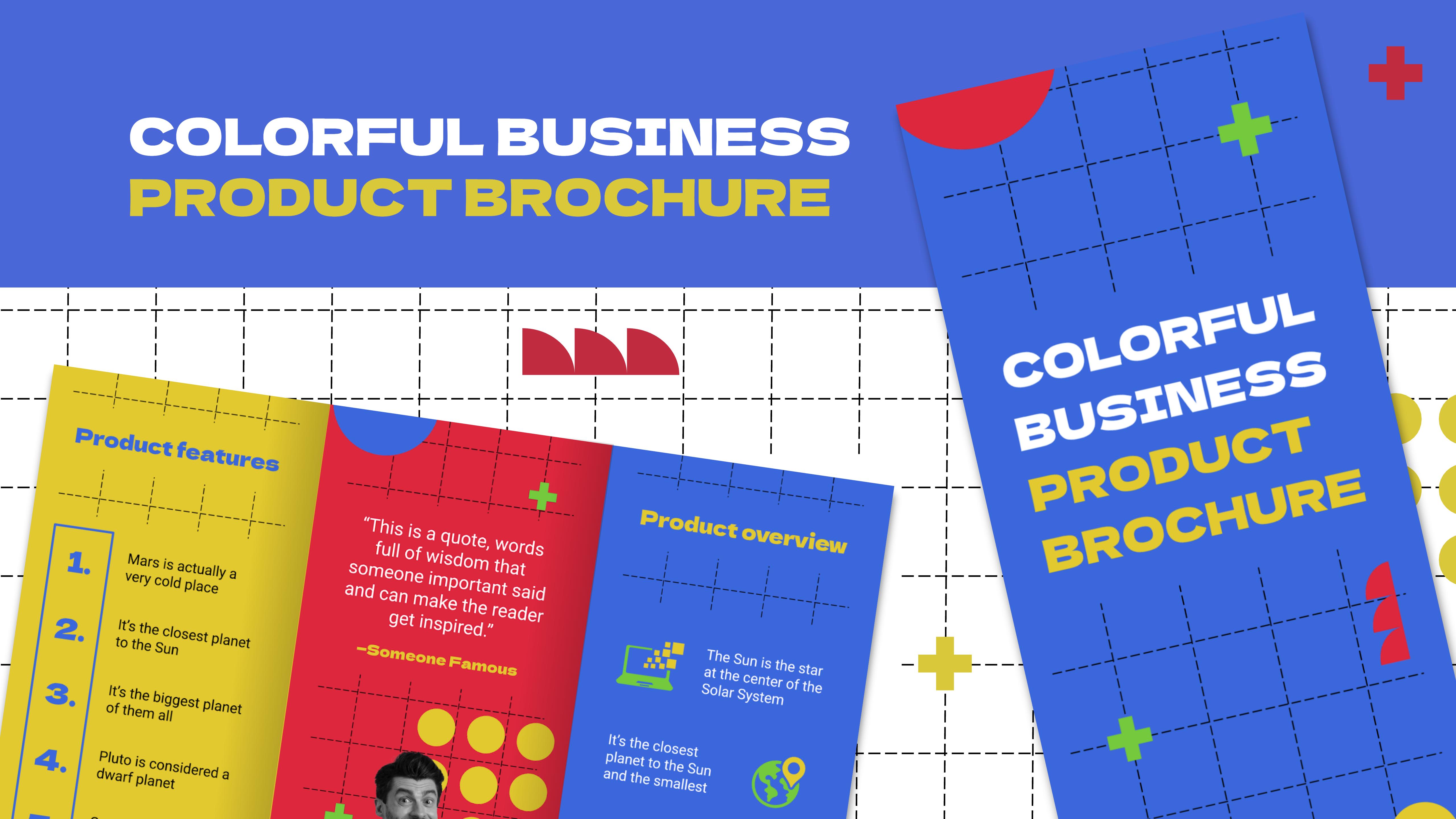 Modelo de apresentação Folheto colorido de produto