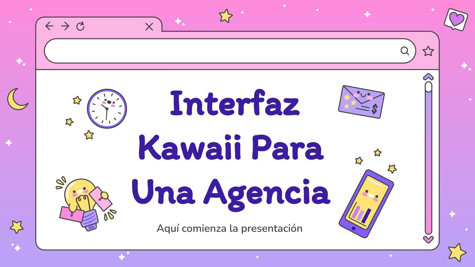 Kawaii Interface for an Agency presentation template