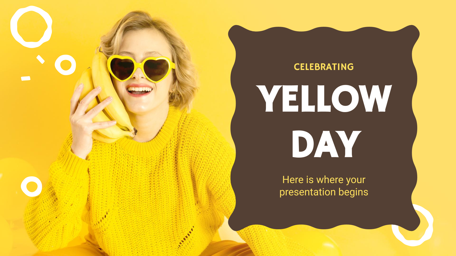 Yellow Day presentation template