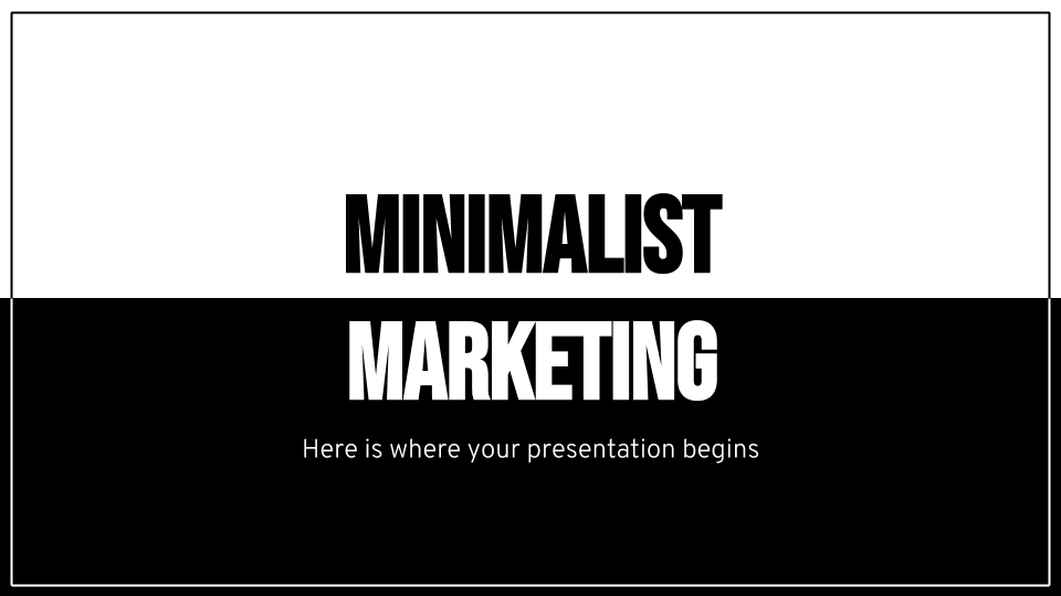 Minimalist Marketing Plan presentation template