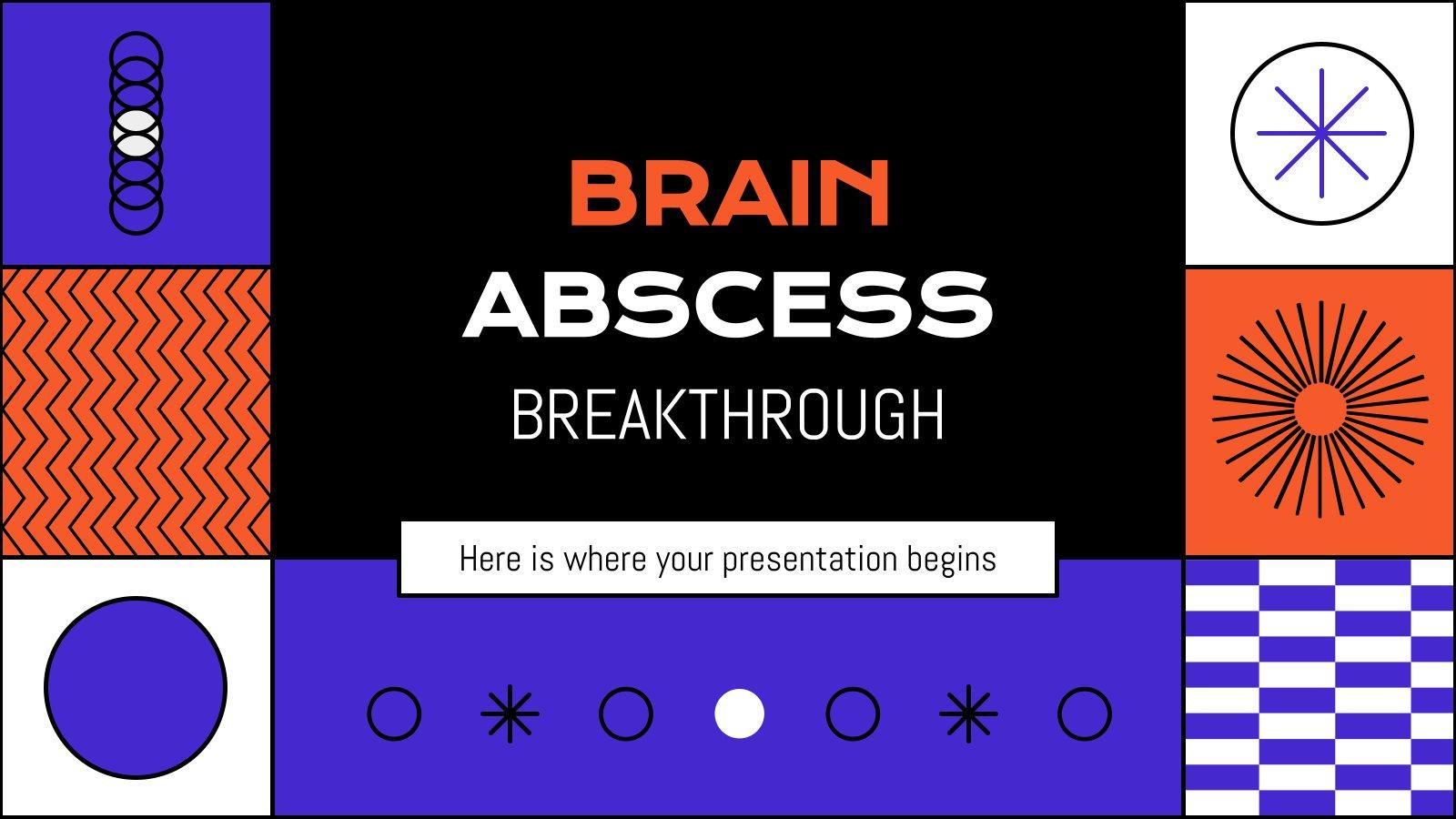 Plantilla de presentación Avances médicos sobre el absceso cerebral