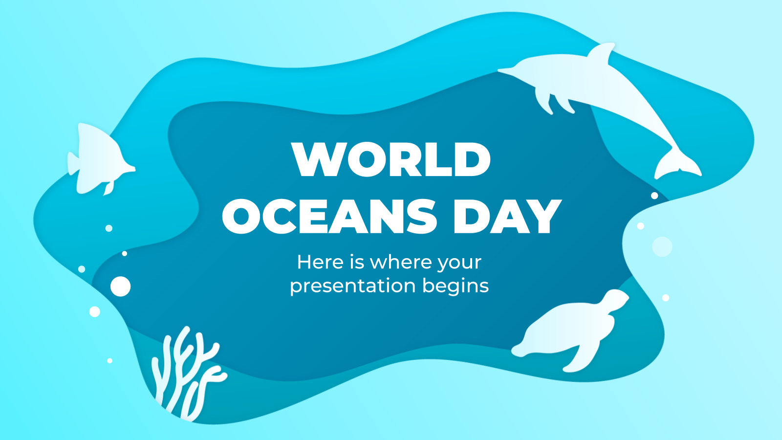 World Oceans Day presentation template