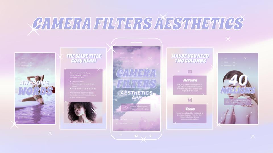 Camera Filters Aesthetics App presentation template