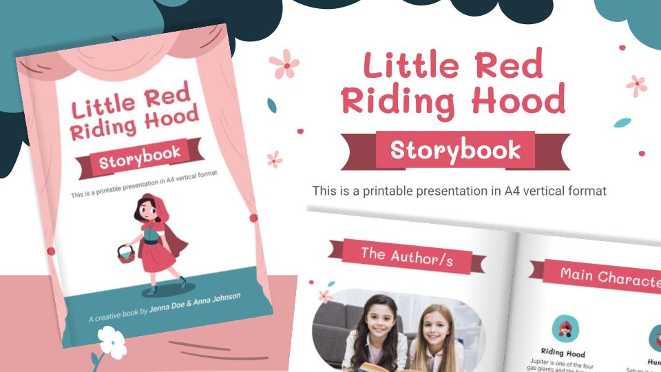 Plantilla de presentación Libro de cuentos: Caperucita Roja