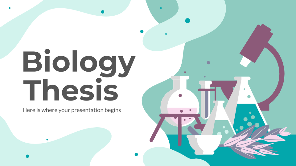 Biology Thesis presentation template