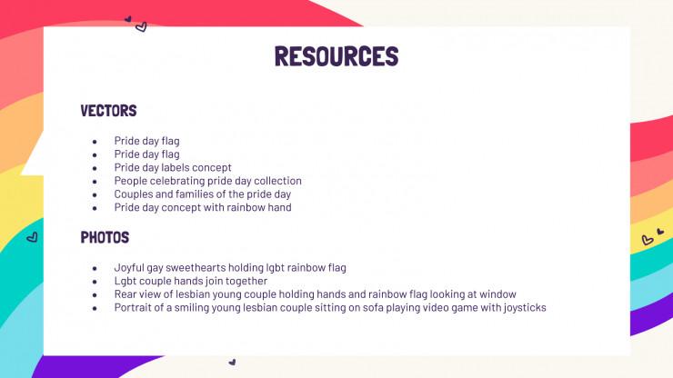 Modelo de apresentação Mídia social LGBT+