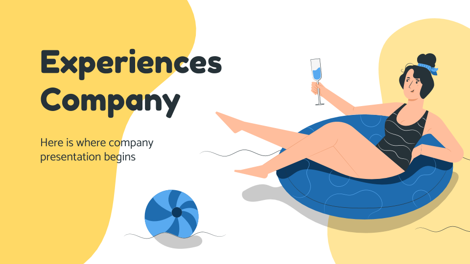 Experiences Company presentation template