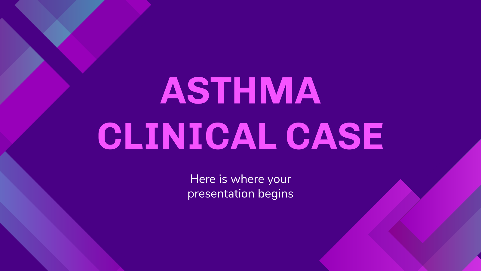 Asthma Clinical Case presentation template