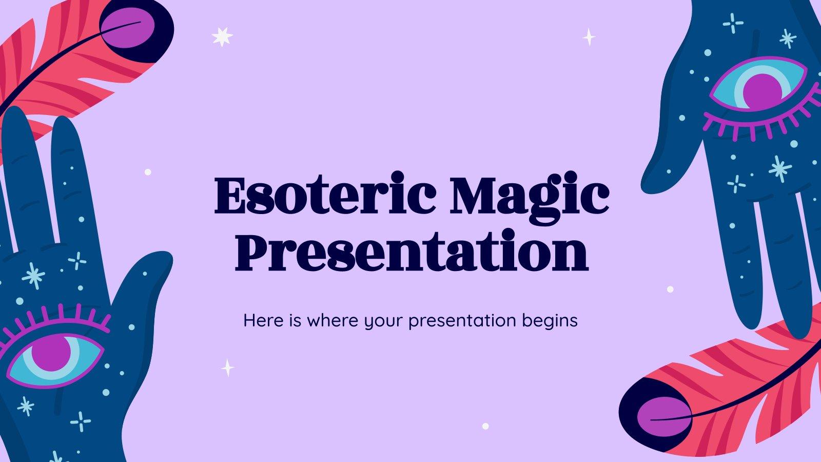 La magie ésotérique : Modèles de présentation