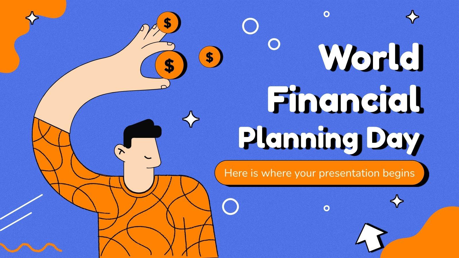Modelo de apresentação Dia Mundial do Planejamento Financeiro