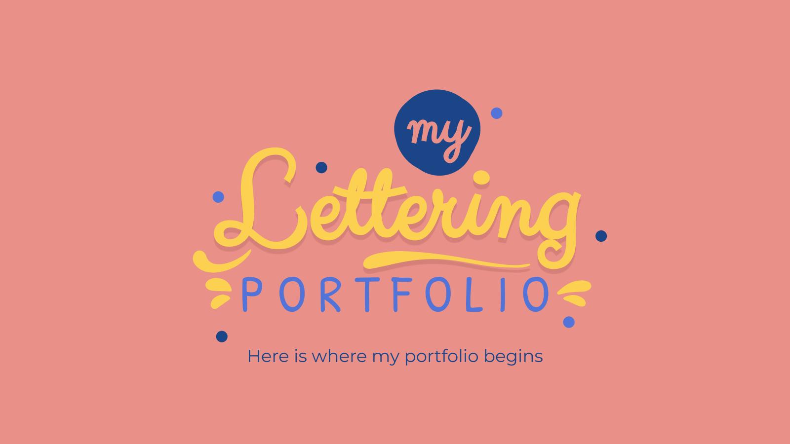 Lettering Portfolio presentation template