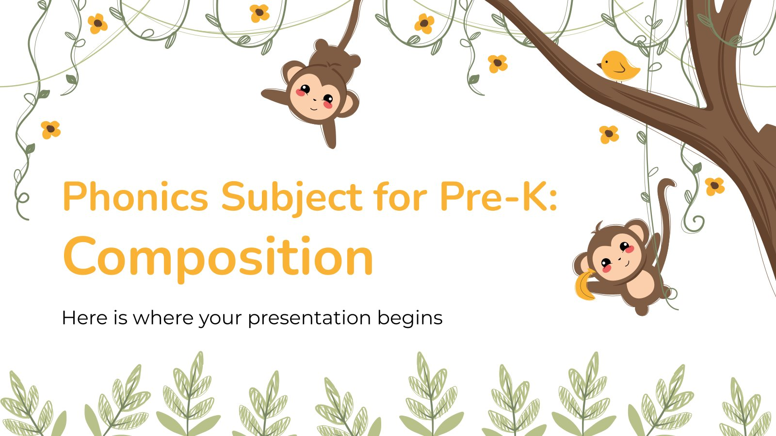 Phonics Subject for Pre-K: Composition presentation template