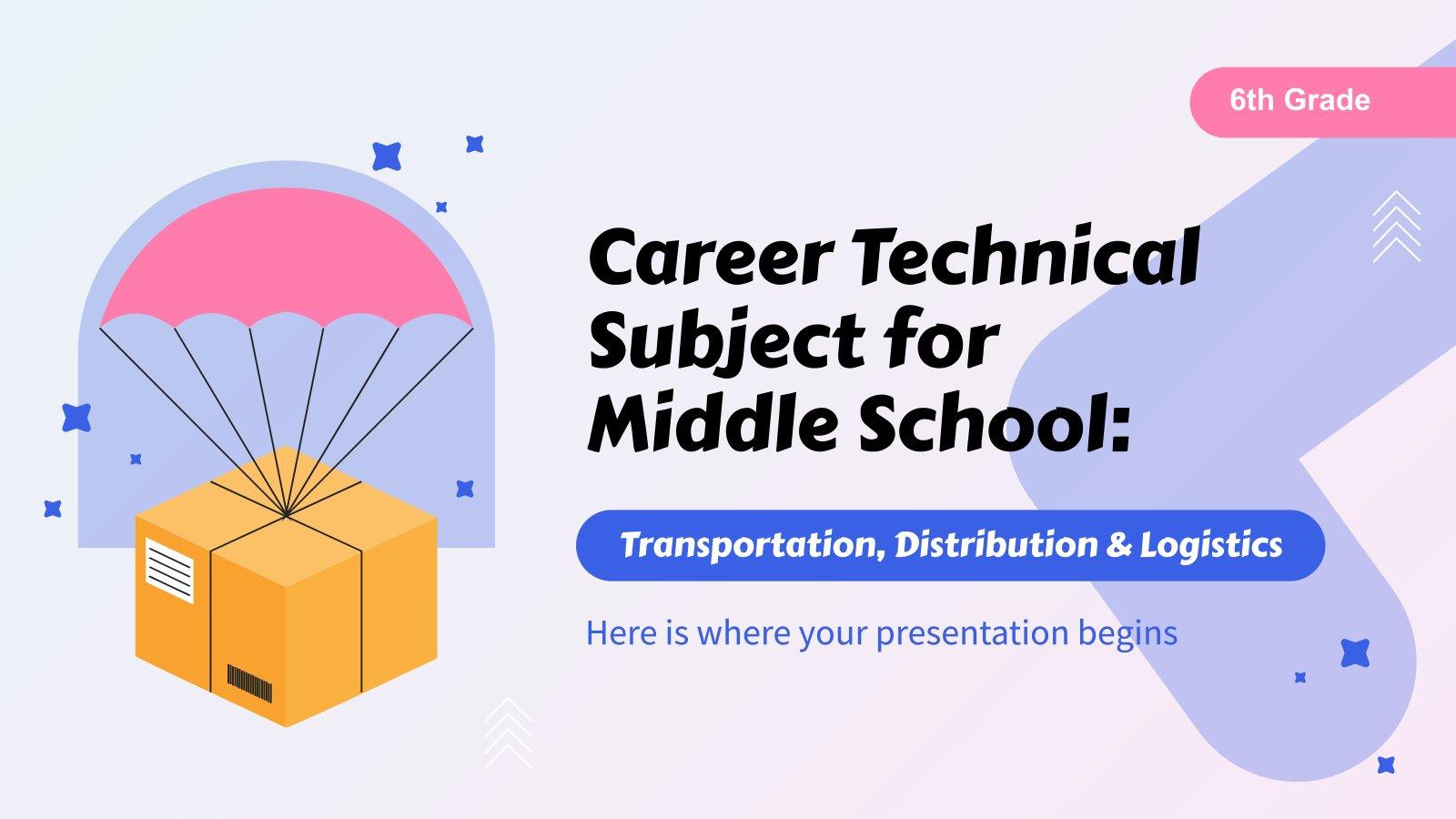 Formation professionnelle pour le collège : Transport, distribution et logistique : Modèles de présentation