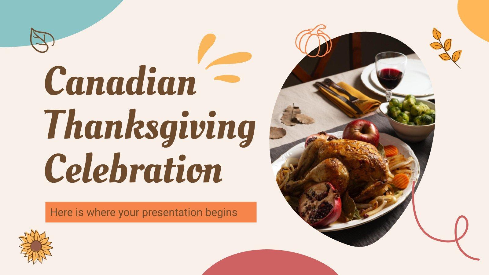 Kanadische Erntedankfeier Präsentationsvorlage