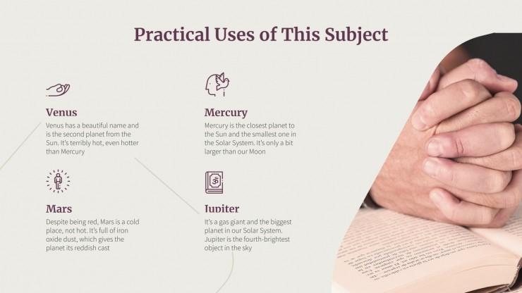 Religion Lesson presentation template