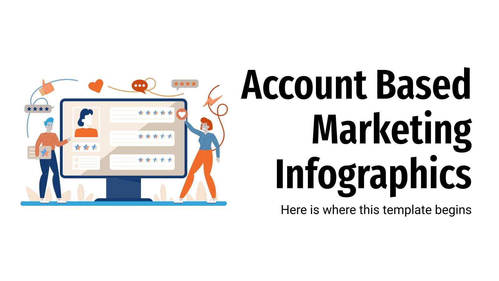 Account Based Marketing Infografiken Präsentationsvorlage
