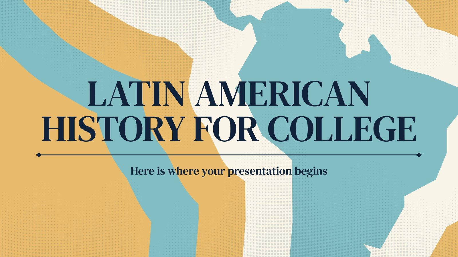 Modelo de apresentação História da América Latina para a faculdade