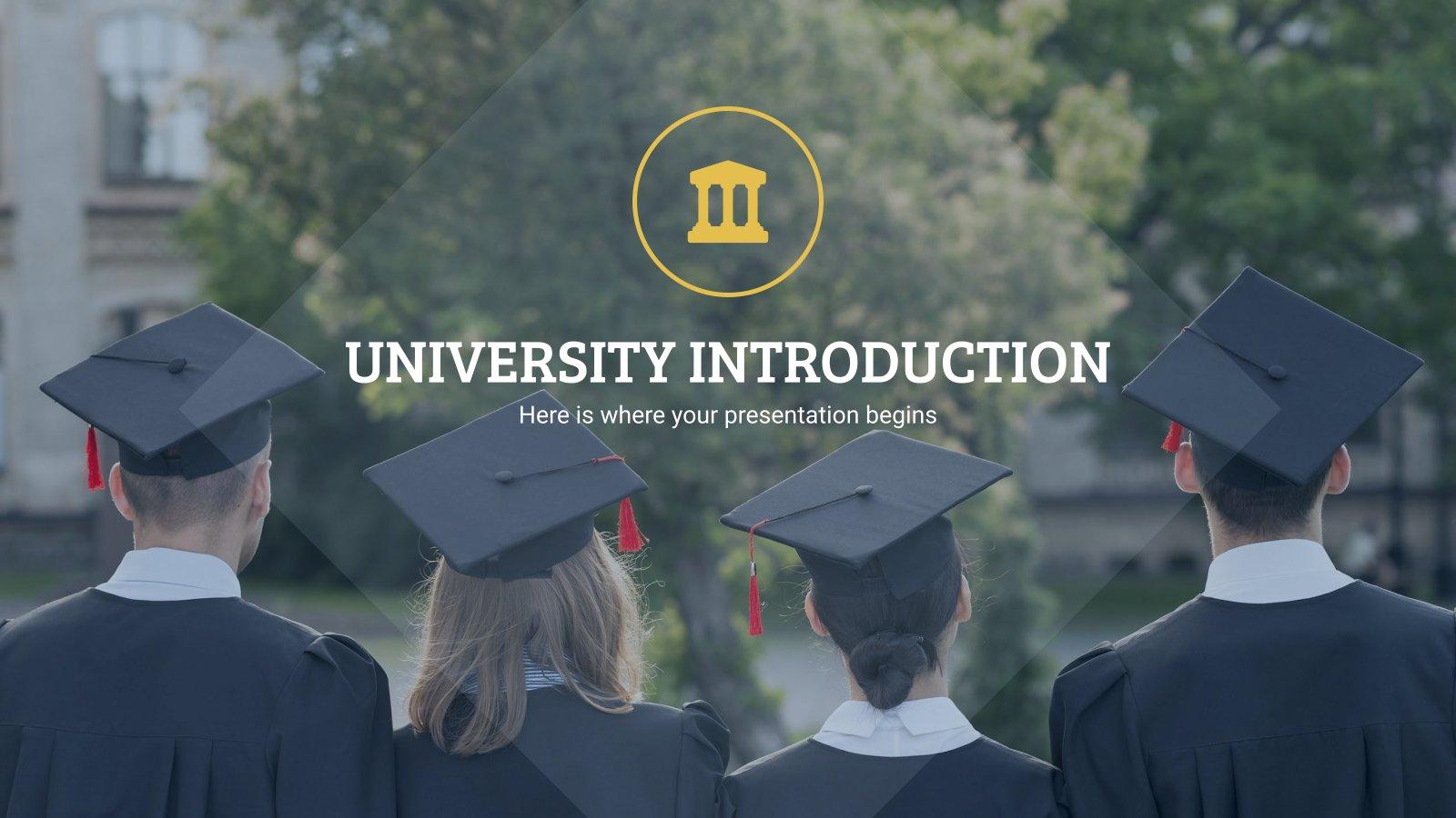 Universität Einführung Präsentationsvorlage