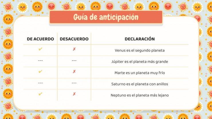 Plantilla de presentación Patrón de solecitos - Planificador de educación