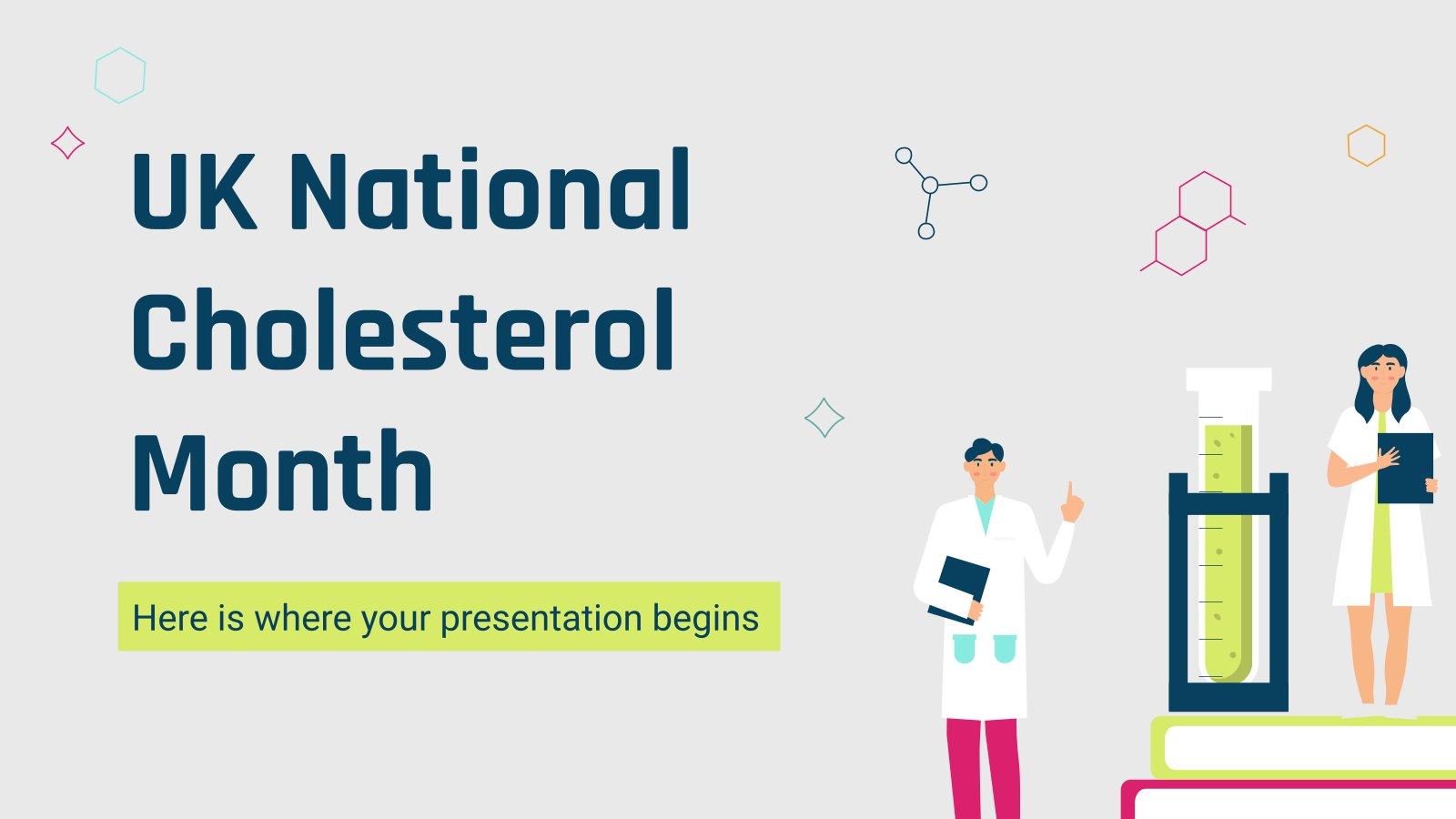 Modelo de apresentação Mês do Colesterol no Reino Unido