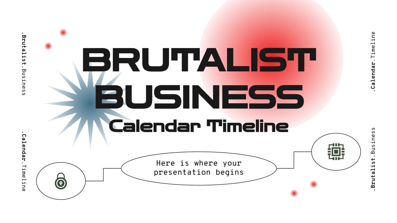 Calendrier brutaliste pour entreprises : Modèles de présentation