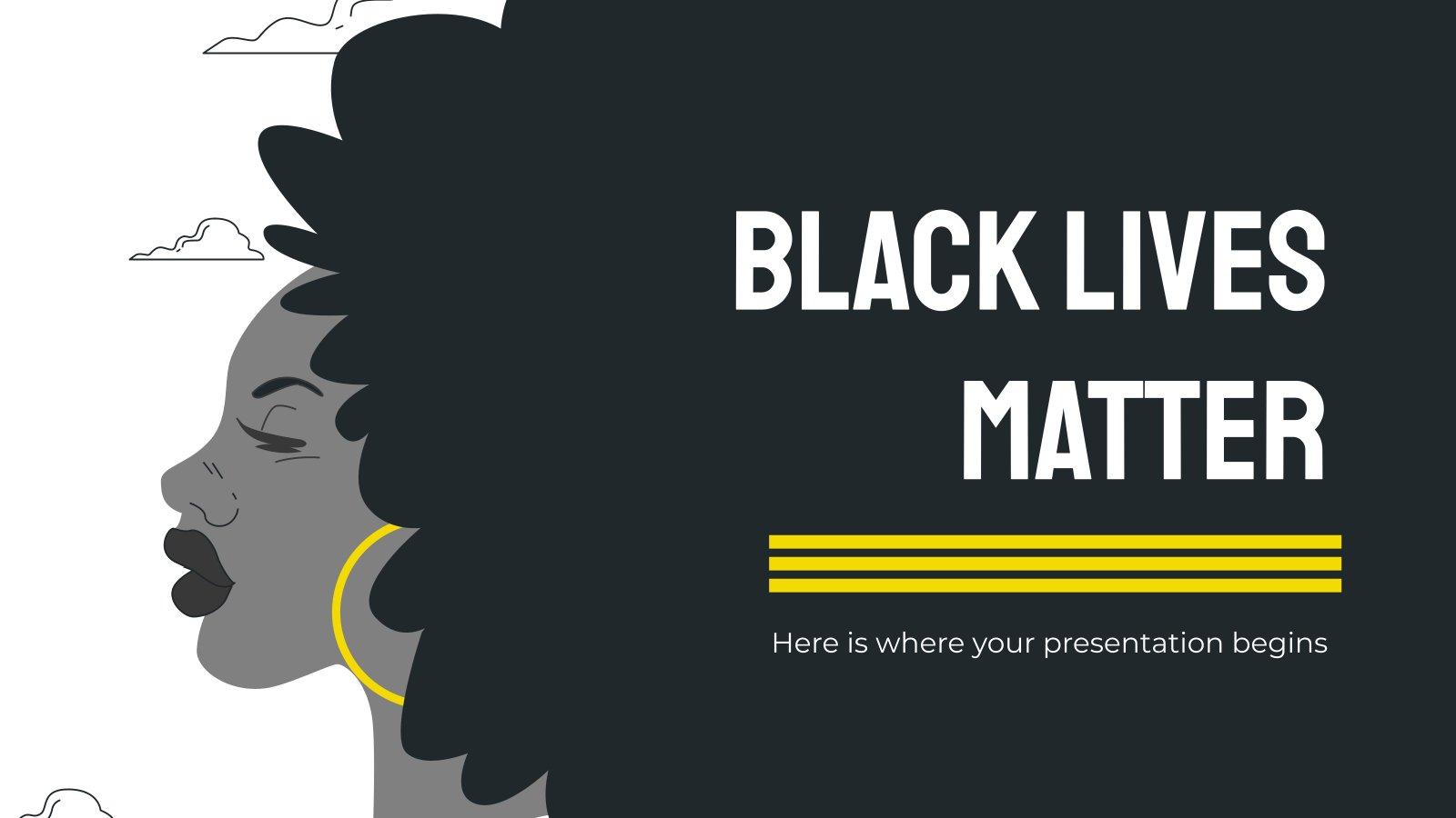 Modelo de apresentação As vidas negras importam