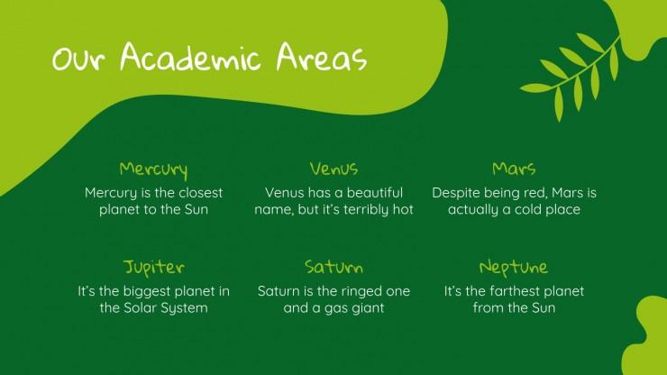 Centre d'éducation à l'environnement : Modèles de présentation