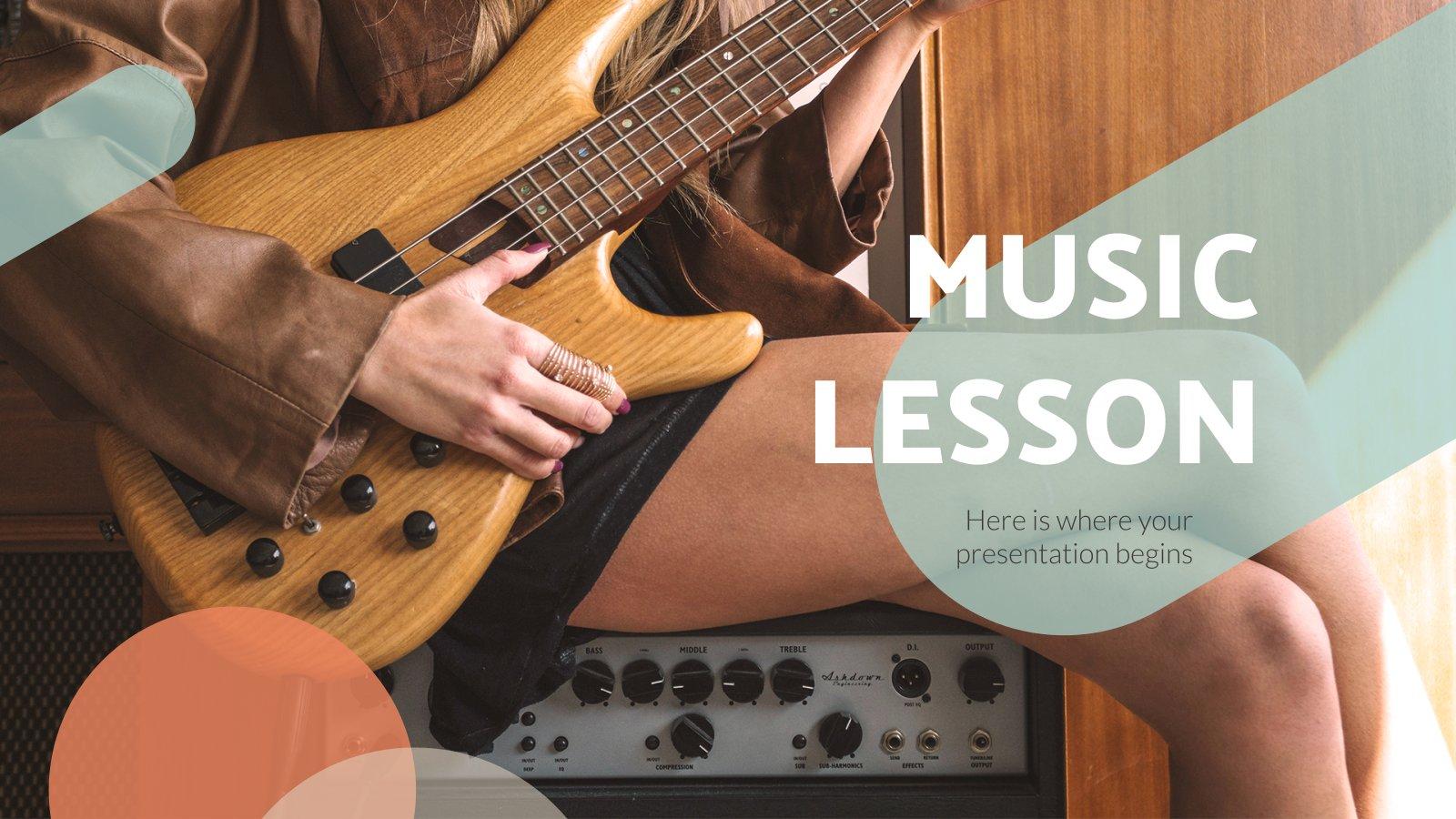 Musikunterricht Präsentationsvorlage