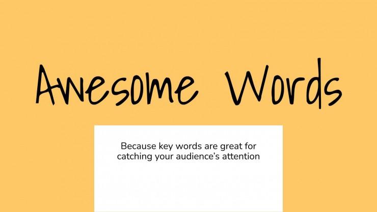 Personal Branding presentation template